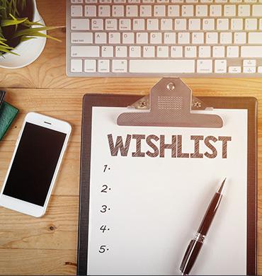 Doplnková služba - wishlist